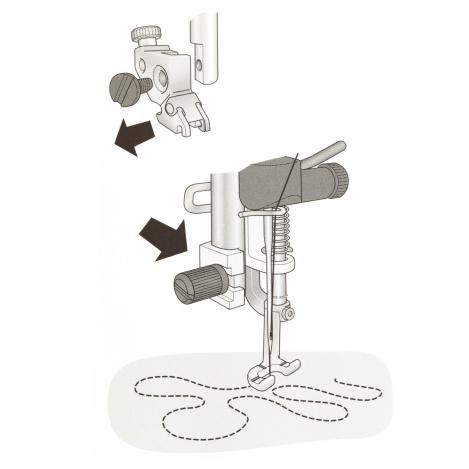 Открытая пружинная лапка для свободной техники шитья 821141096 фото №3