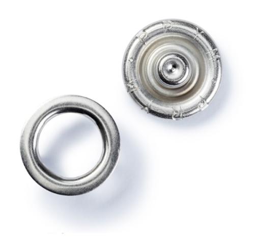 Кнопки «Джерси», серебристые (8 мм) 390100 фото №2