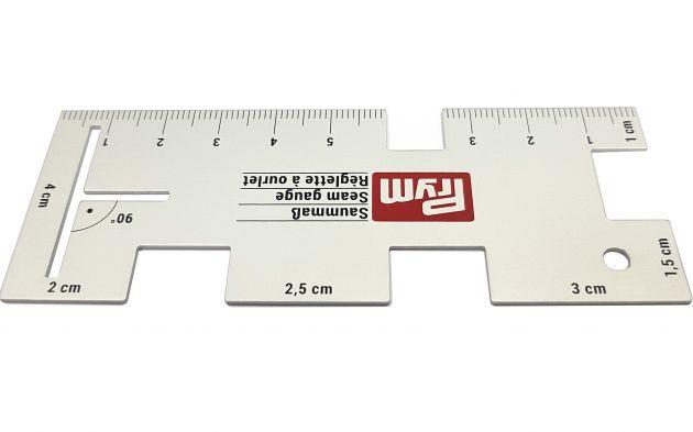 Линейка для разметки припусков, алюминий (5,6x14,5 см) 610736 фото №1