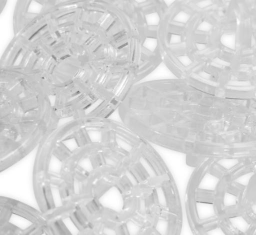 Декоративные пуговицы, прозрачные (22 мм) 312102 фото №3