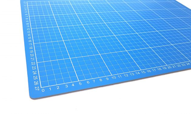 Коврик для раскройных ножей, двухсторонний, двухцветный (30x45см)  DW-12123 (AC) фото №4