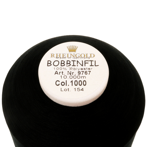 Нижняя нить BOBBINFIL №70, черная (10000 м) 70120 фото №2