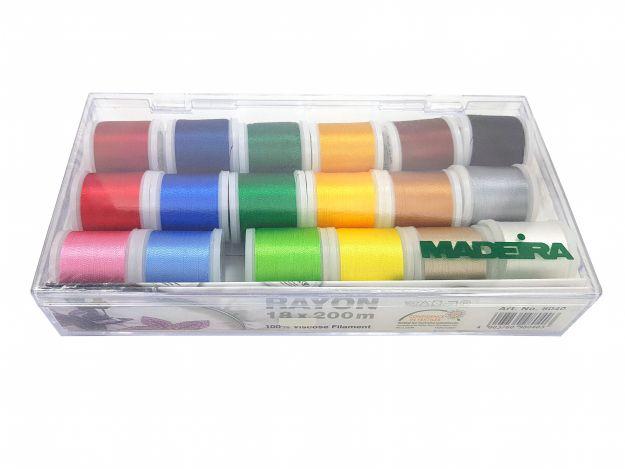 Набор вышивальных ниток Rayon (200м) (18 шт.) 8040 фото №2