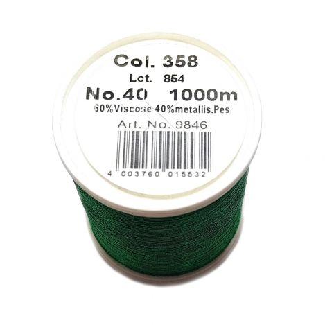 Нитка Metallic Green (1000м) 358 фото №2