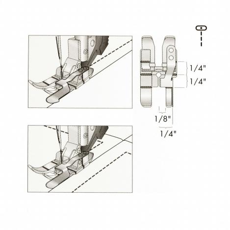Лапка для отстрочки по краю с припуском 1/4 (6 мм) 820924096 фото №3
