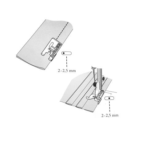 Лапка для отстрочки по краю (металлическая) 412796745 фото №2