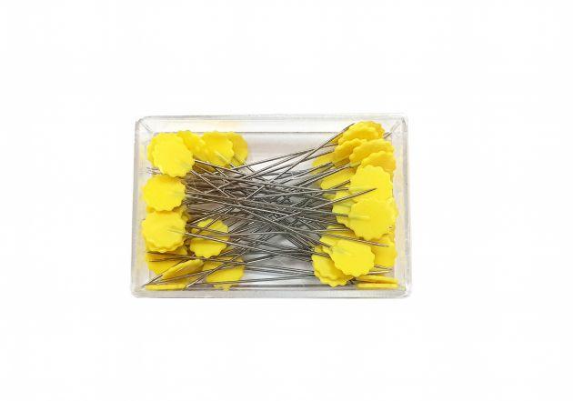 Булавки для квилтинга с цветочной головкой, средние (0,60х50мм) 028520 фото №2
