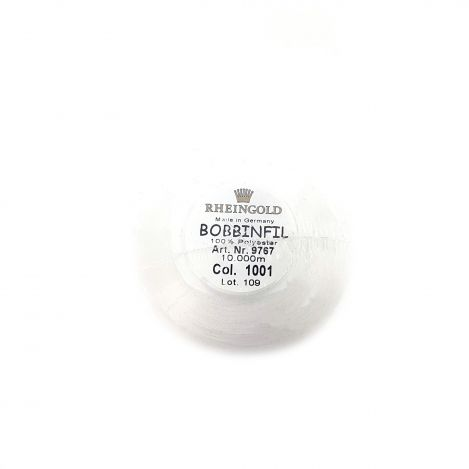 Нижняя нить BOBBINFIL №70, белая (10000м) 9767 фото №2