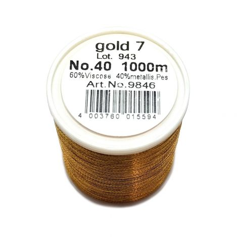 Нитка METALLIC (GOLD 7) Gold 7 фото №2