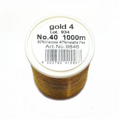 Вышивальная нитка Metallic №40 Gold 4 фото №2