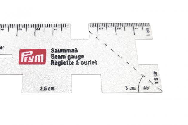 Линейка для разметки припусков, прозрачная (4x10,5 см) 610732 фото №4