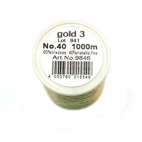 Нитка METALLIC (GOLD 3) Gold 3 фото №2
