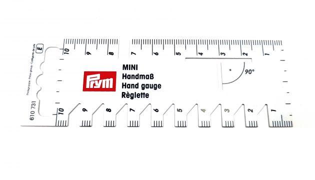 Мини-линейка для разметки и измерения, белый пластик 610731 фото №1