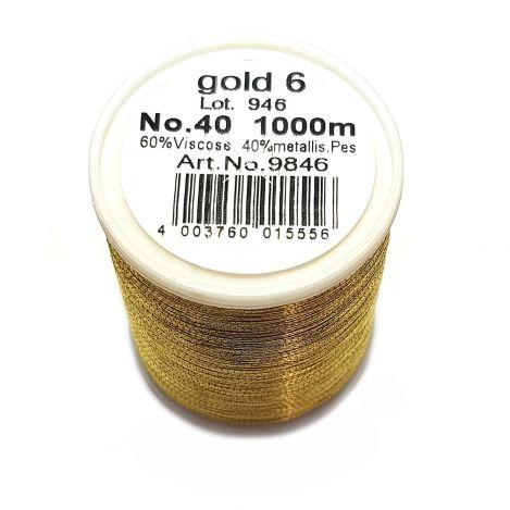 Вышивальная нитка Metallic №40 Gold 6 фото №2