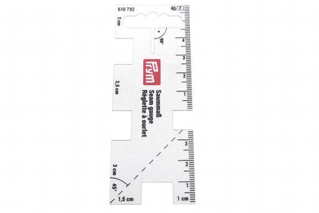 Линейка для разметки припусков, прозрачная (4x10,5 см) 610732 фото №3
