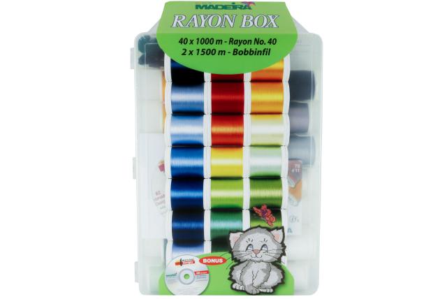 Двойной набор вышивальных ниток Rayon (1000 м.) (42 шт.) 8042 фото №1