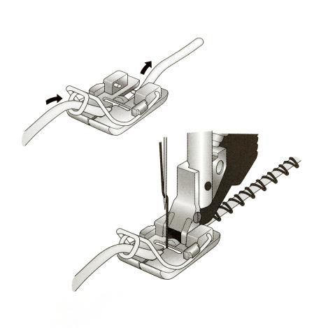Лапка для пришивания объемных нитей 820607096 фото №3