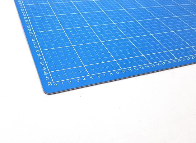 Коврик для раскройных ножей, двухсторонний, двухцветный (45x60см)  DW-12122 (AC) фото №4