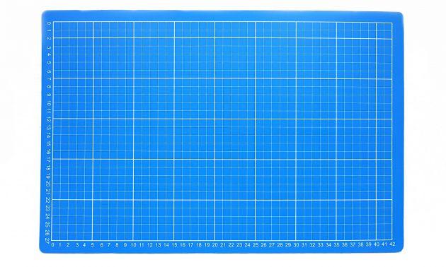 Коврик для раскройных ножей, двухсторонний, двухцветный (30x45см)  DW-12123 (AC) фото №2