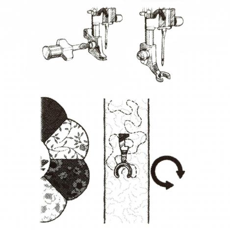 Открытая лапка для штопки и свободной техники шитья 412801045 фото №3