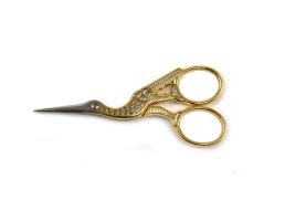 """Ножницы """"Цапельки"""" для рукоделия с позолотой"""