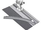 Лапка для потайной молнии (металлическая) 202144009 фото №2